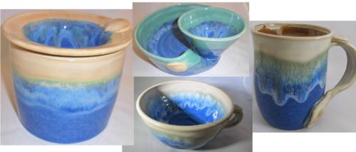 Locally made pottery