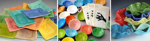 Colorful ceramics made in Virginia